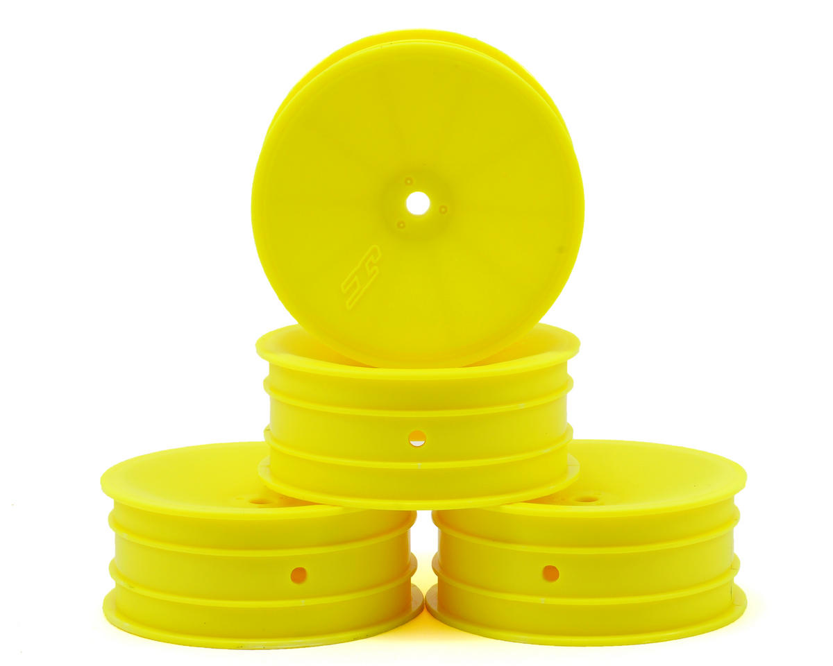 JConcepts 12mm Hex Mono 2.2 Front Wheels (4) (B6/B5/RB6) (Yellow) (Schumacher Cougar KD)