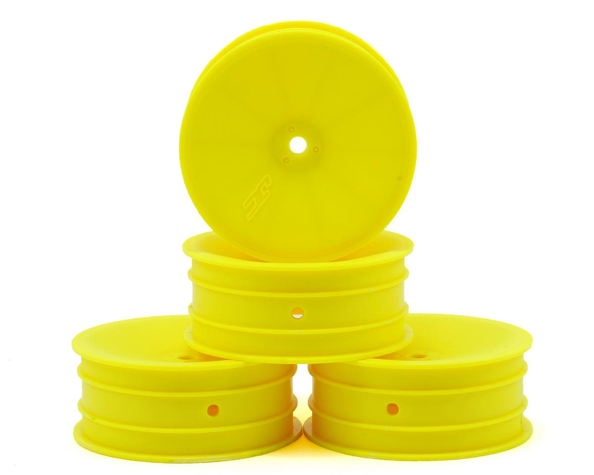 JConcepts 12mm Hex Mono 2.2 Front Wheels (4) (B6/B5/RB6) (Yellow)