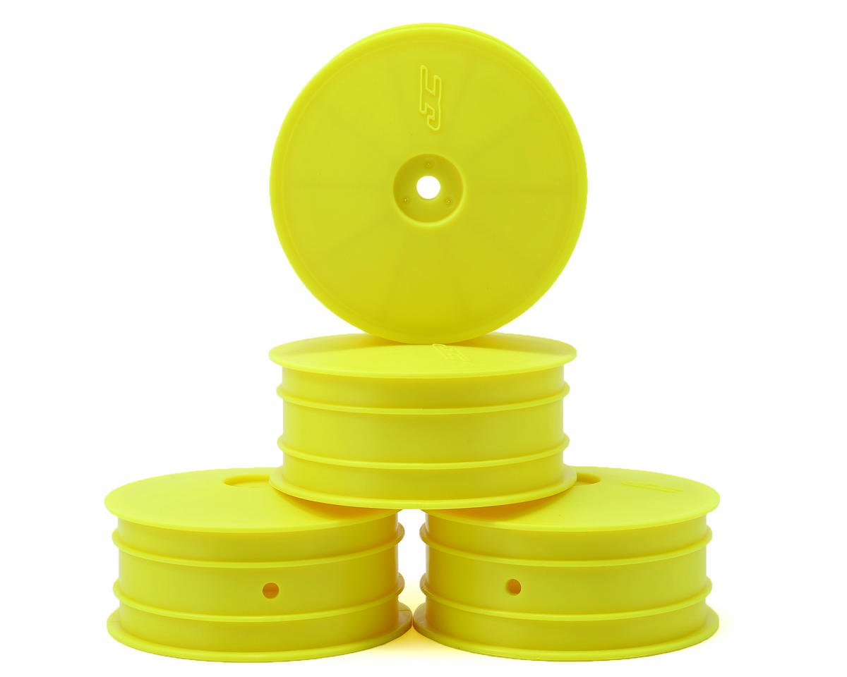 JConcepts 9.5mm Hex Mono 2.2 4WD Front Buggy Wheels (4) (B44.2) (Yellow)