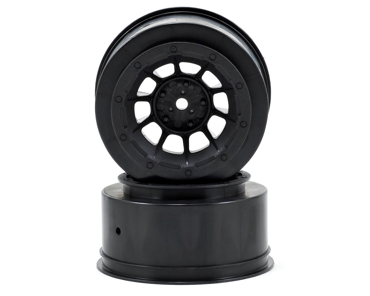 12mm Hex Hazard Short Course Wheels (Black) (2) (Slash Front) by JConcepts