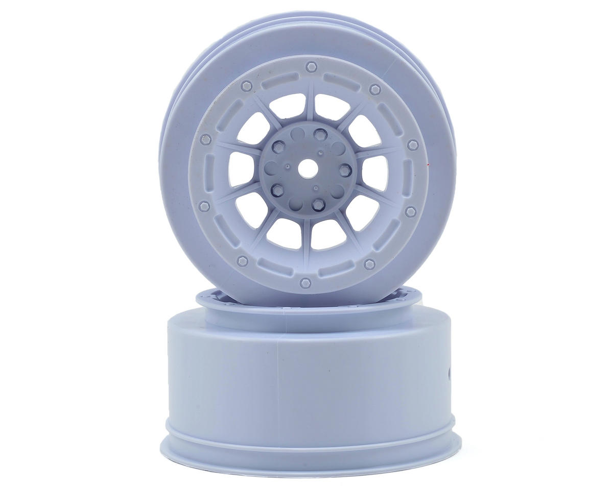 JConcepts 12mm Hex Hazard Short Course Wheels (White) (2) (Slash Front)