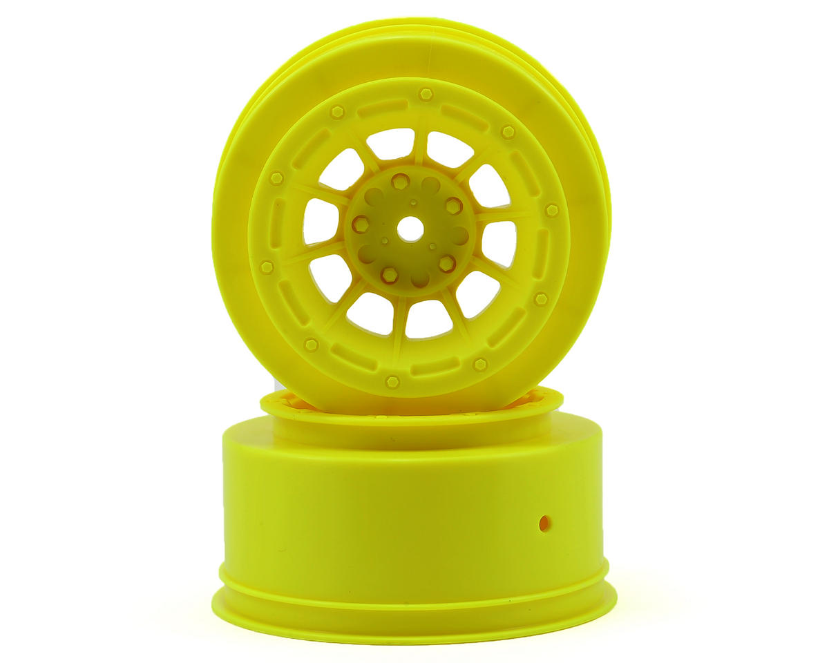12mm Hex Hazard Short Course Wheels (Yellow) (2) (Slash Front) by JConcepts