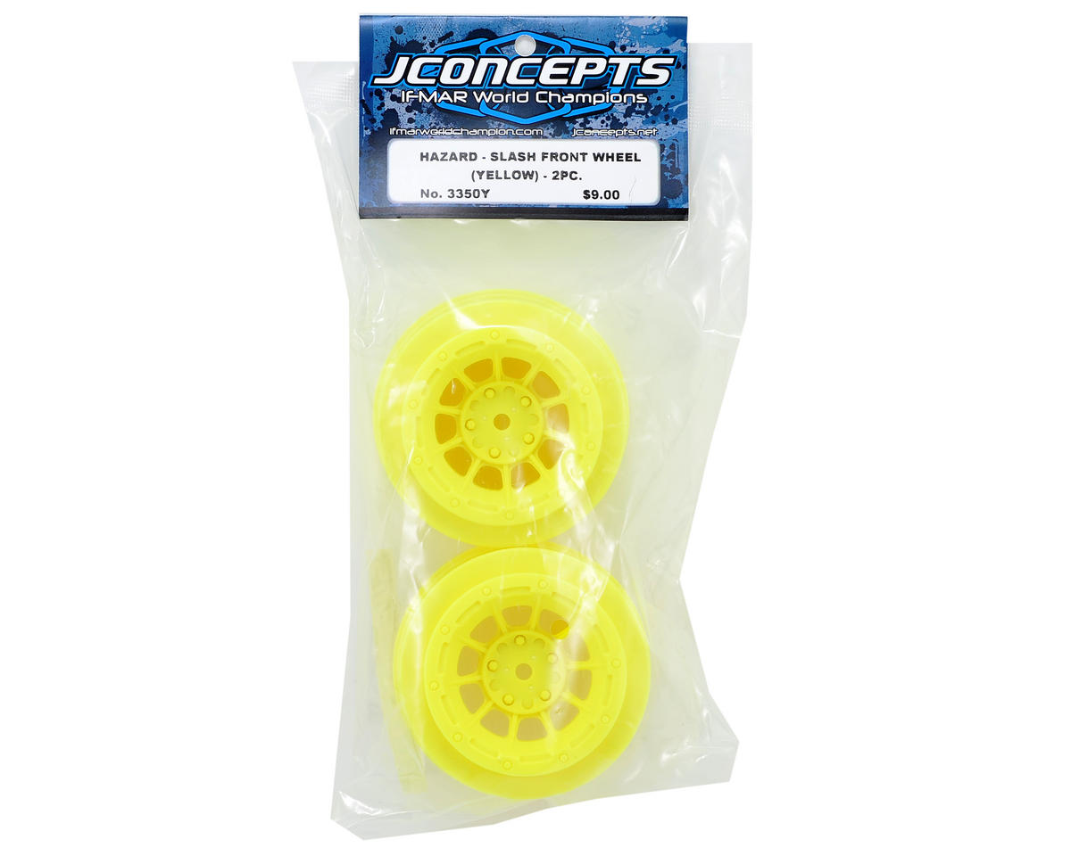 12mm Hex Hazard Short Course Wheels (Yellow) (2) (Slash Front) by JConcepts