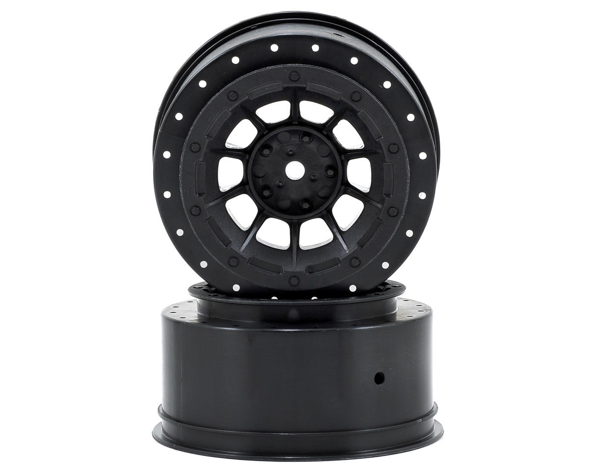 12mm Hex Hazard Short Course Wheels (Black) (2) (Slash) by JConcepts