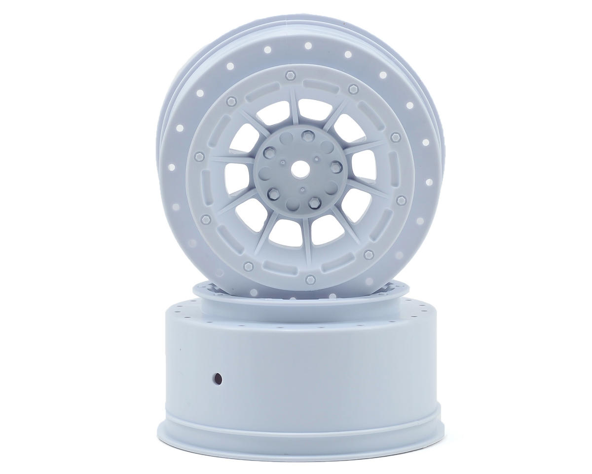 12mm Hex Hazard Short Course Wheels (White) (2) (Slash) by JConcepts