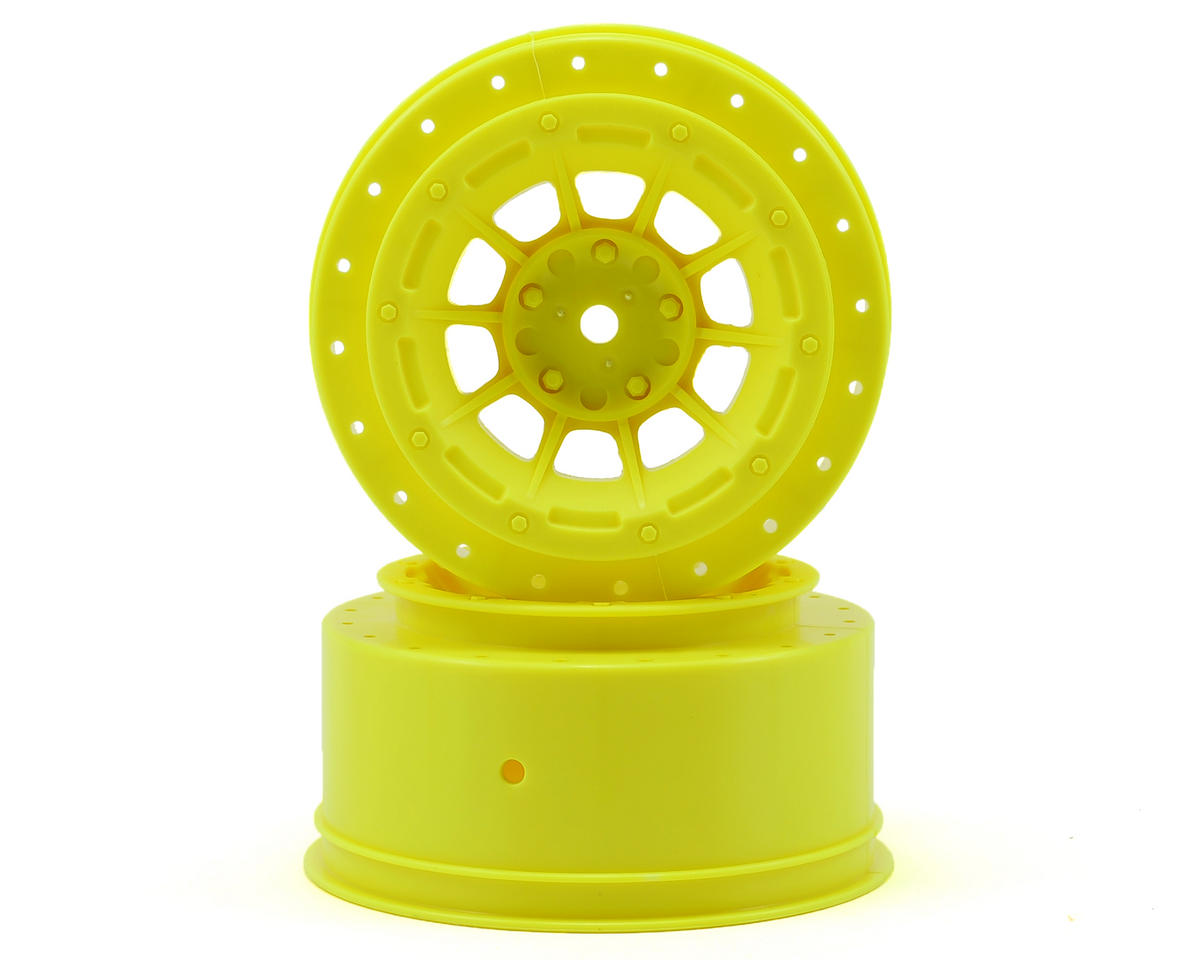 JConcepts 12mm Hex Hazard Short Course Wheels (Yellow) (2) (Slash)