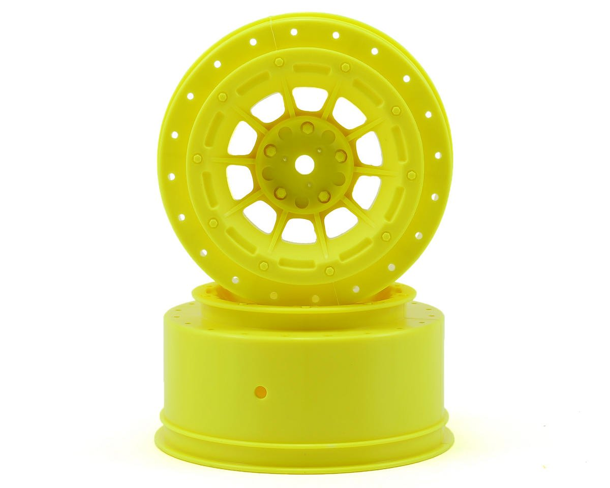 12mm Hex Hazard Short Course Wheels (Yellow) (2) (Slash) by JConcepts