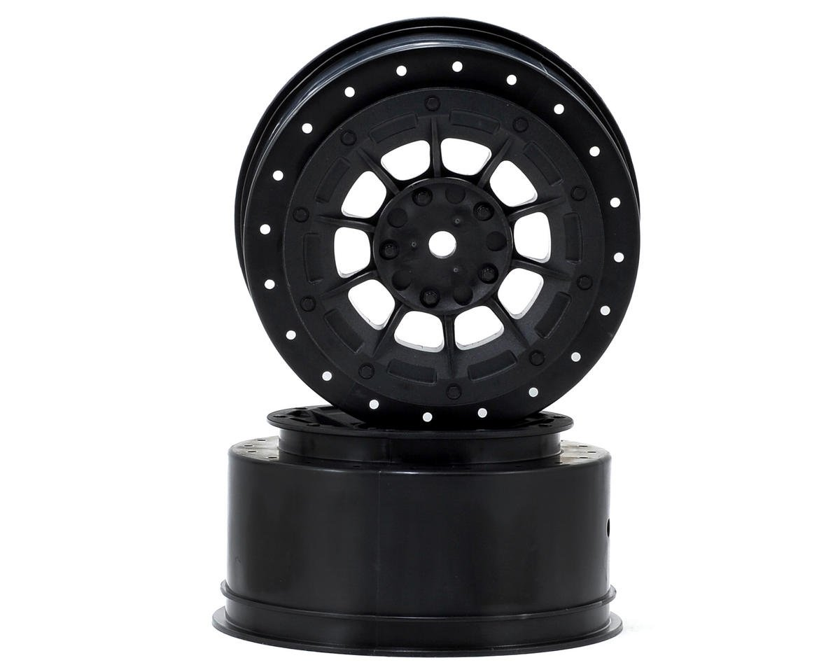 12mm Hex Hazard Short Course Wheels (Black) (2) (TEN-SCTE) by JConcepts