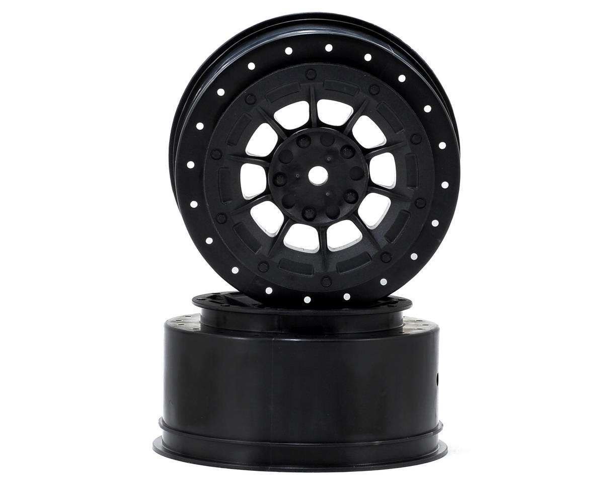 JConcepts 12mm Hex Hazard Short Course Wheels (Black) (2) (TEN-SCTE) (Losi TEN-SCT Nitro)