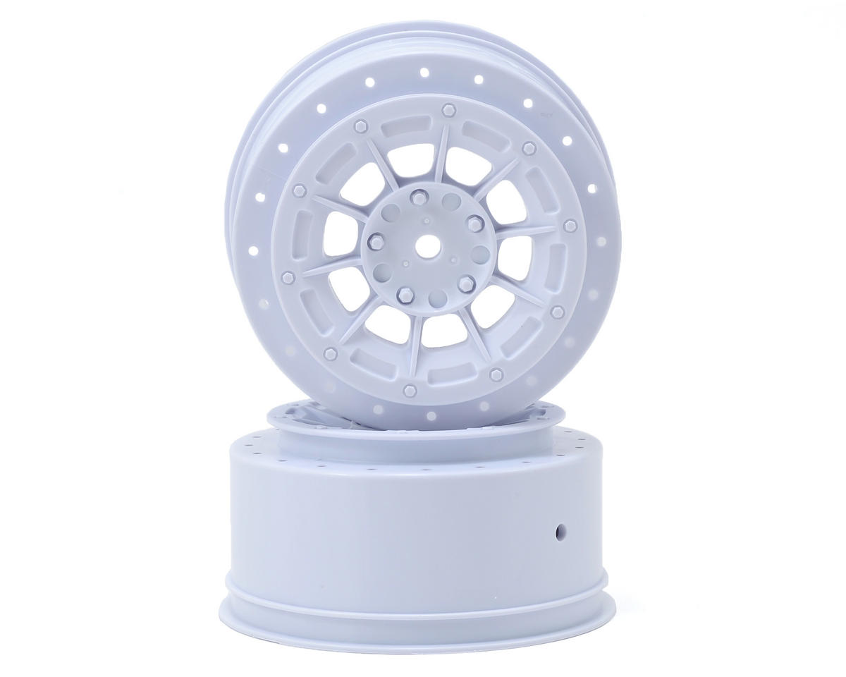 12mm Hex Hazard Short Course Wheels (White) (2) (TEN-SCTE) by JConcepts