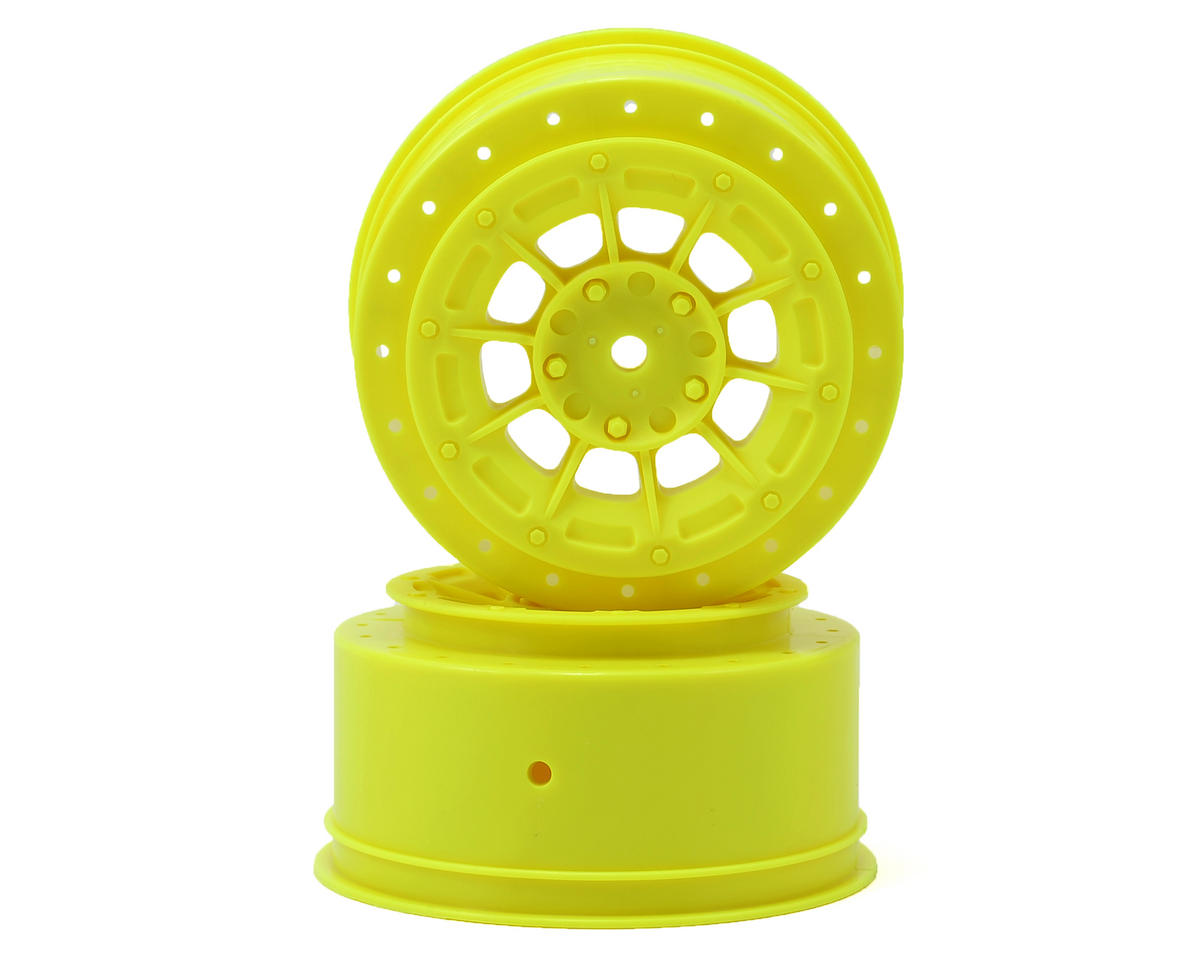 JConcepts 12mm Hex Hazard Short Course Wheels (Yellow) (2) (TEN-SCTE) (Losi TEN-SCT Nitro)