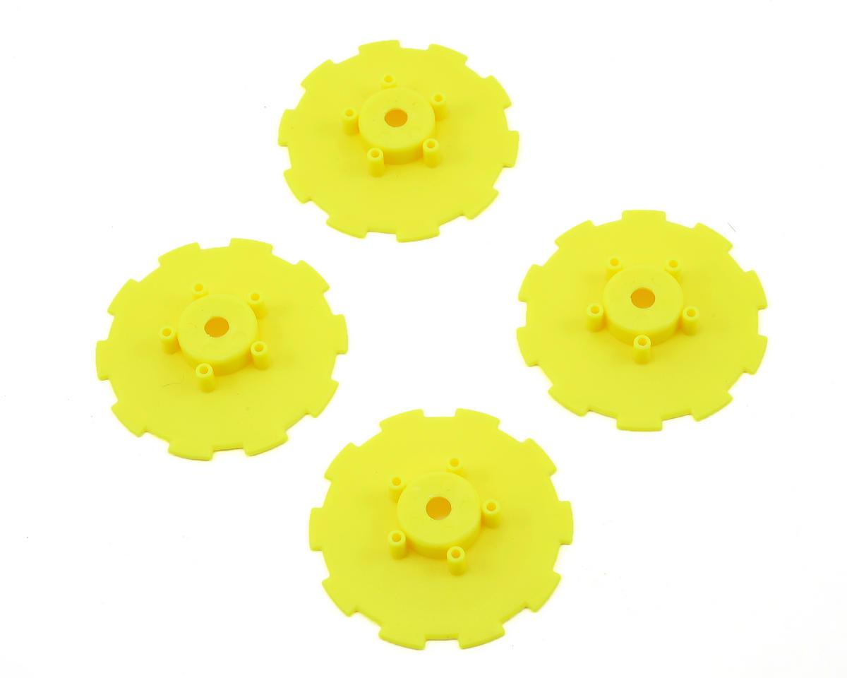 JConcepts Hazard Wheel Dish (Yellow) (4) (TEN-SCTE)
