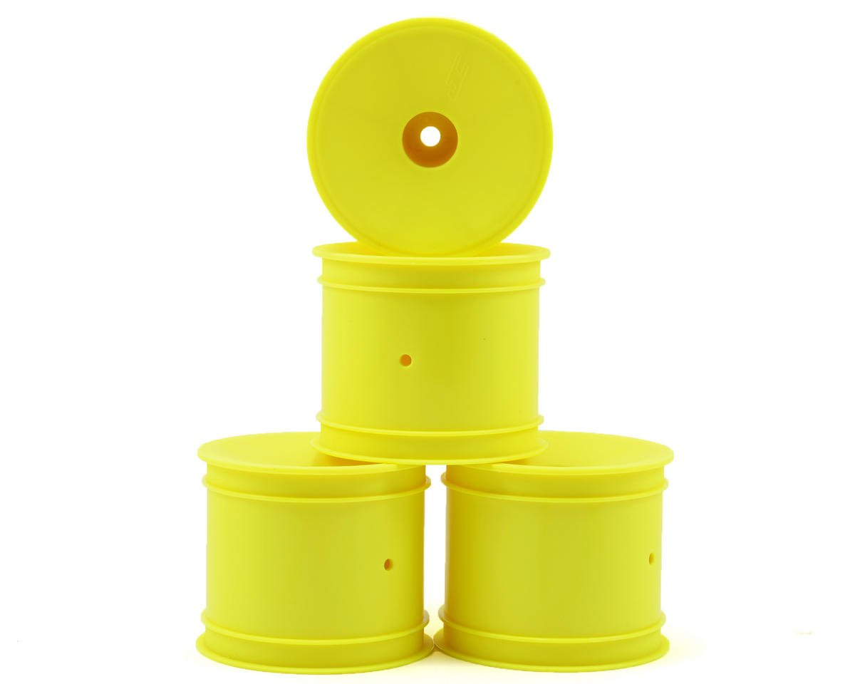JConcepts 12mm Hex Mono 1/10 Stadium Truck Wheel (4) (T4.1) (Yellow) (Yokomo YZ-2 T)