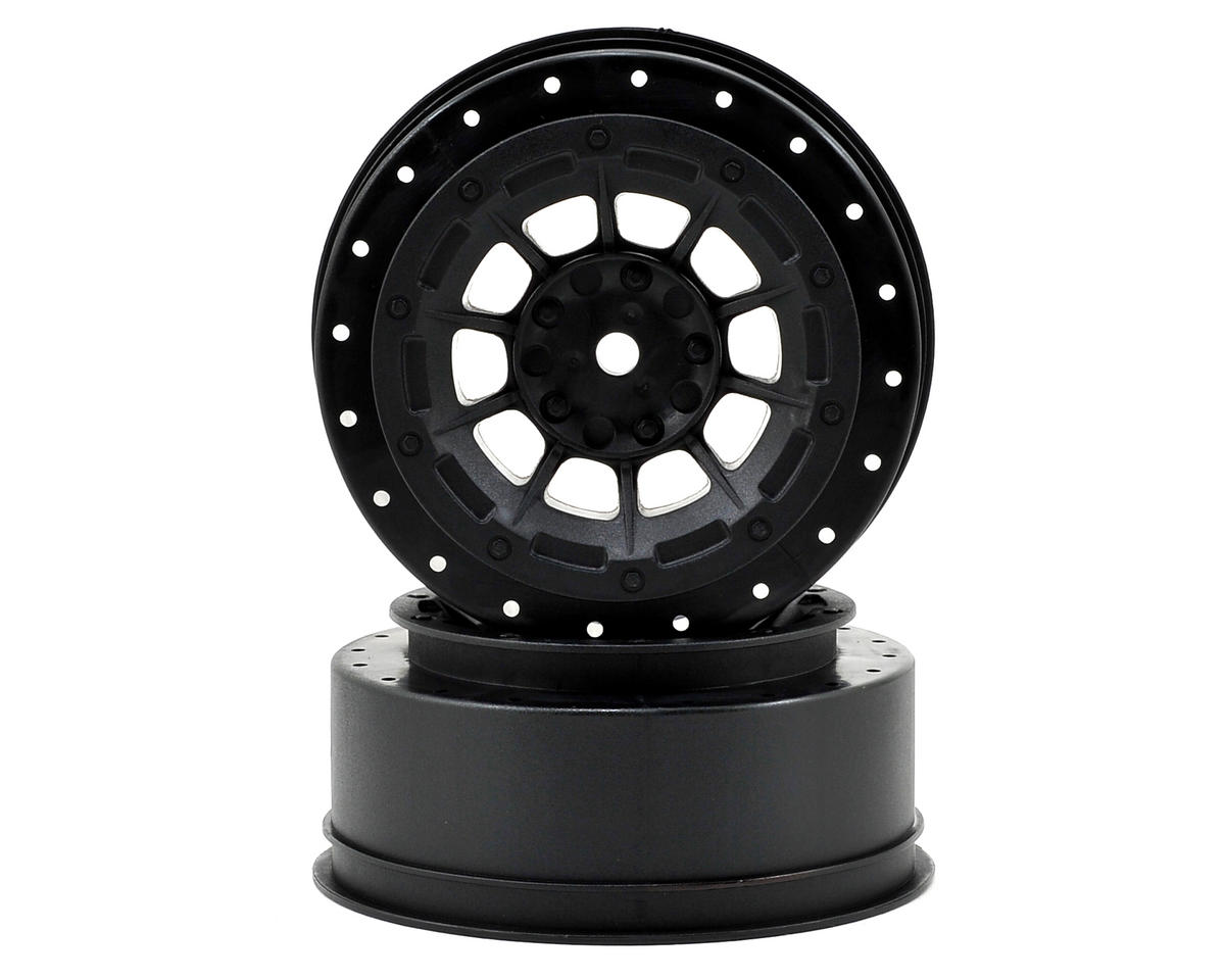 JConcepts 12mm Hex Hazard Front Wheel w/3mm Offset (Black) (2) (SC10B)