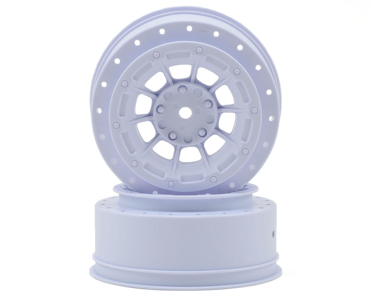 JConcepts 12mm Hex Hazard Front Wheel w/3mm Offset (White) (2) (SC10B)