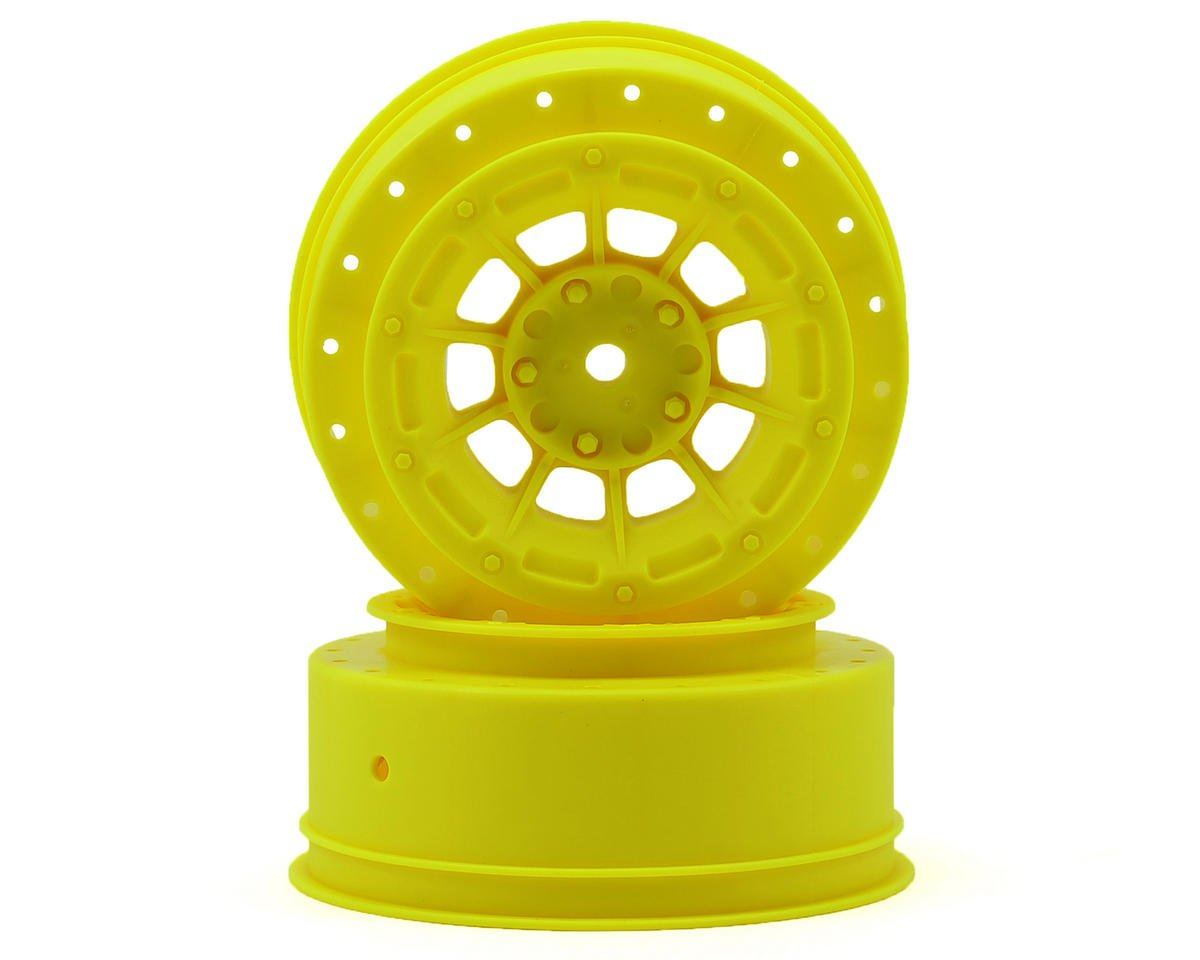 12mm Hex Hazard Front Wheel w/3mm Offset (Yellow) (2) (SC10B) by JConcepts