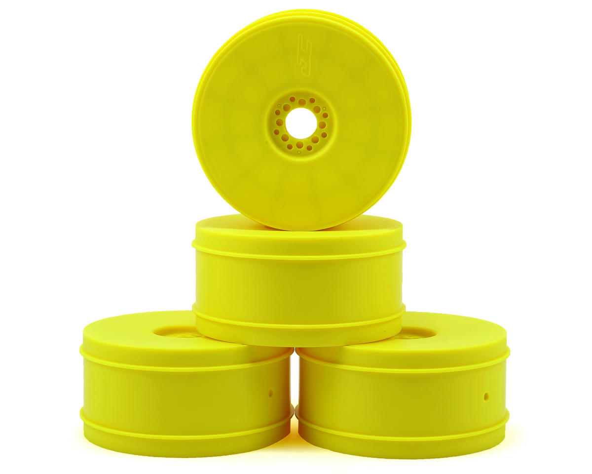 JConcepts 83mm Bullet 8th Scale Buggy Wheel Yellow 3357Y