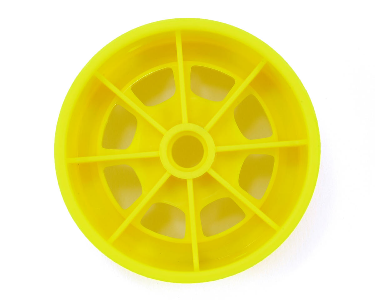 "Hazard 1.9"" RC10 Front Wheel (Yellow) (2) by JConcepts"