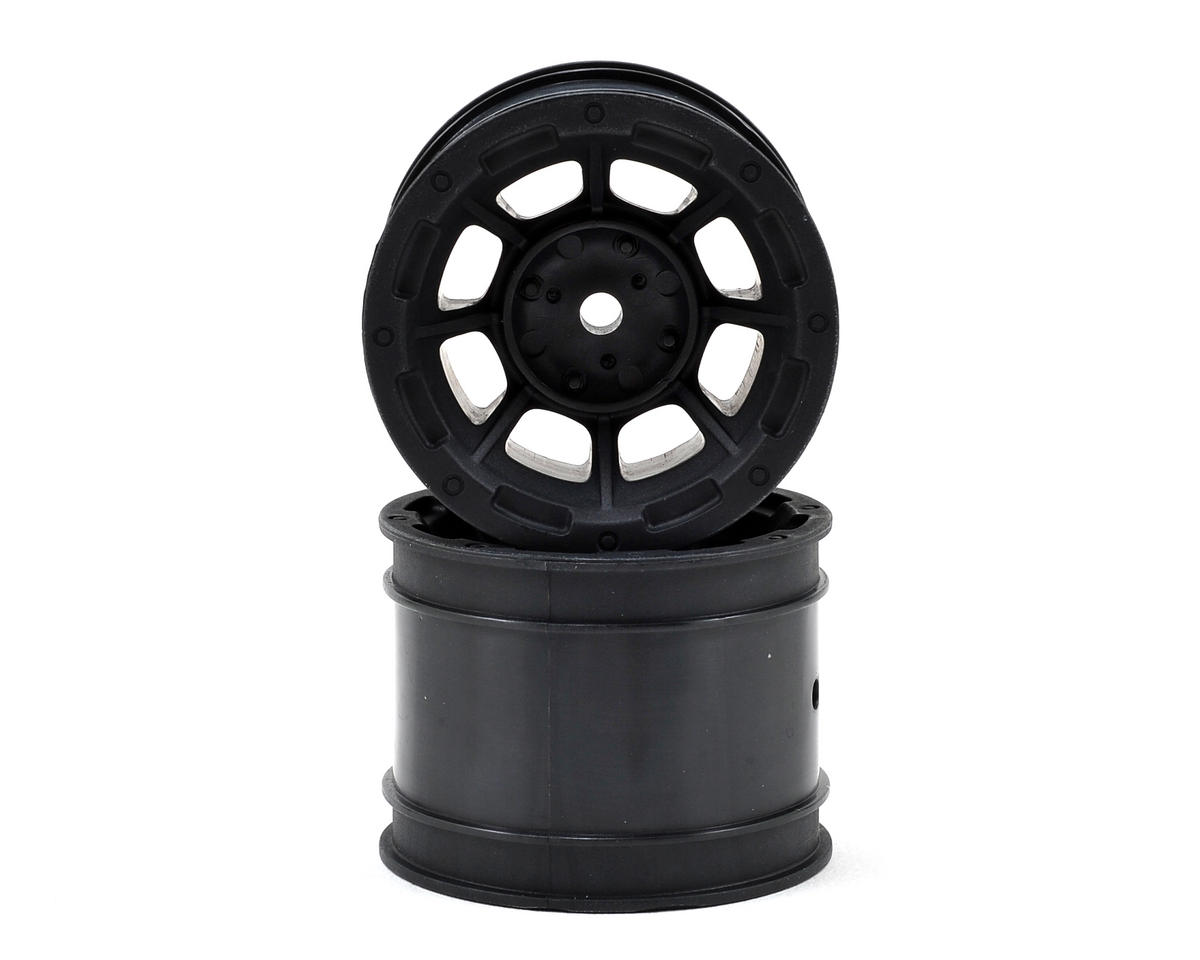 "JConcepts Hazard 1.7"" Team Associated RC10 Rear Wheel (Black) (2)"