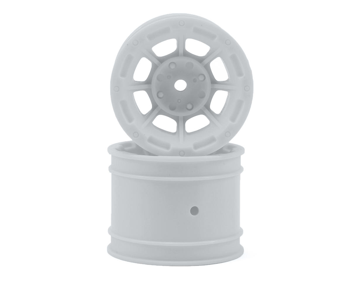 "JConcepts Hazard 1.7"" Team Associated RC10 Rear Wheel (White) (2)"