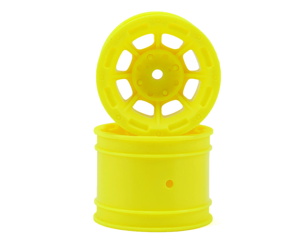 "JConcepts Hazard 1.7"" Team Associated RC10 Rear Wheel (Yellow) (2)"