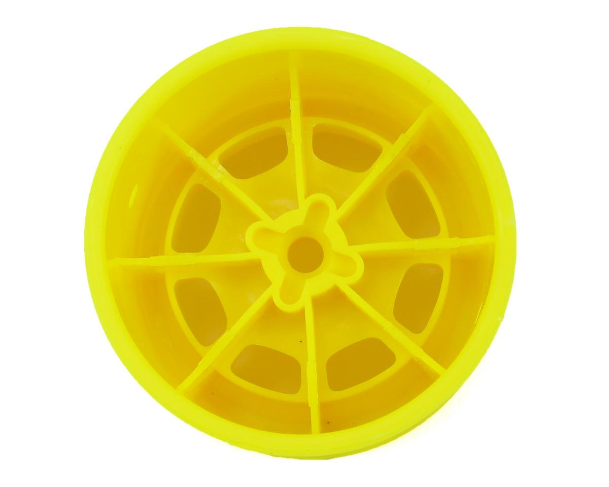 "JConcepts Hazard 1.7"" RC10 Rear Wheel (Yellow) (2)"