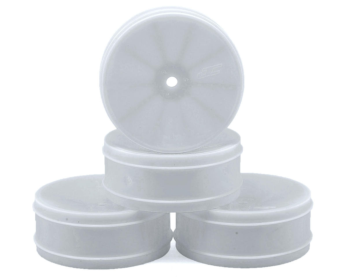 JConcepts 12mm Hex Bullet 60mm Front Wheels (4) (B6/B5/RB6) (White) (Kyosho Ultima RB6)