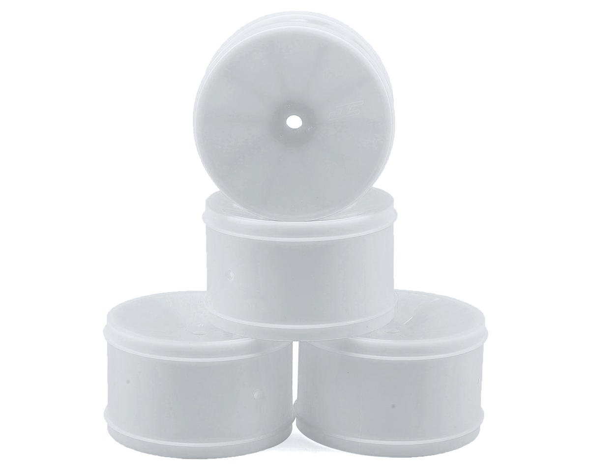 JConcepts 12mm Hex Bullet 60mm Rear Wheels (4) (B6/RB6/SRX/XB4) (White) (Kyosho Lazer ZX-6)