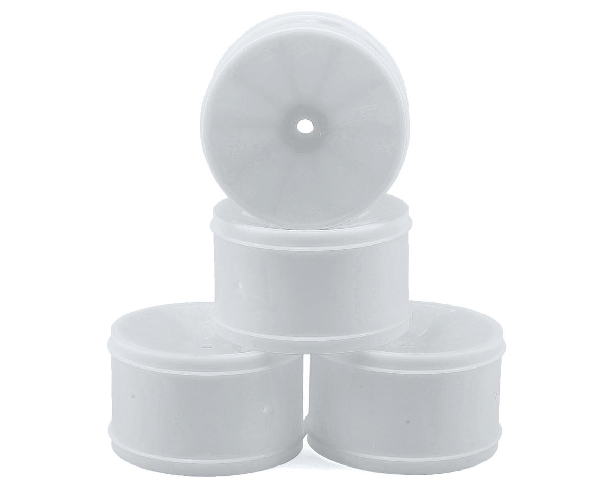 JConcepts 12mm Hex Bullet 60mm Rear Wheels (4) (B6/RB6/SRX/XB4) (White) (Kyosho Lazer ZX-5)