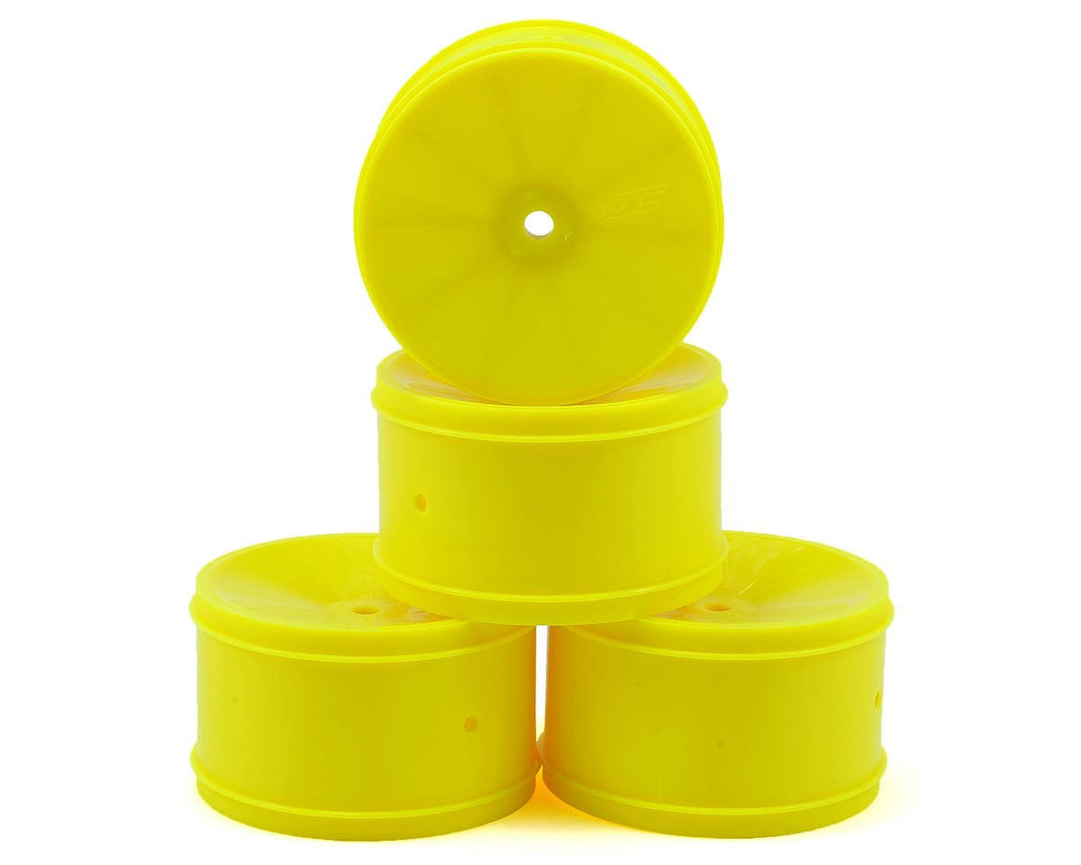 JConcepts 12mm Hex Bullet 60mm Rear Wheels (4) (B6/RB6/SRX/XB4) (Yellow) (Team Associated RC10 B44.2)