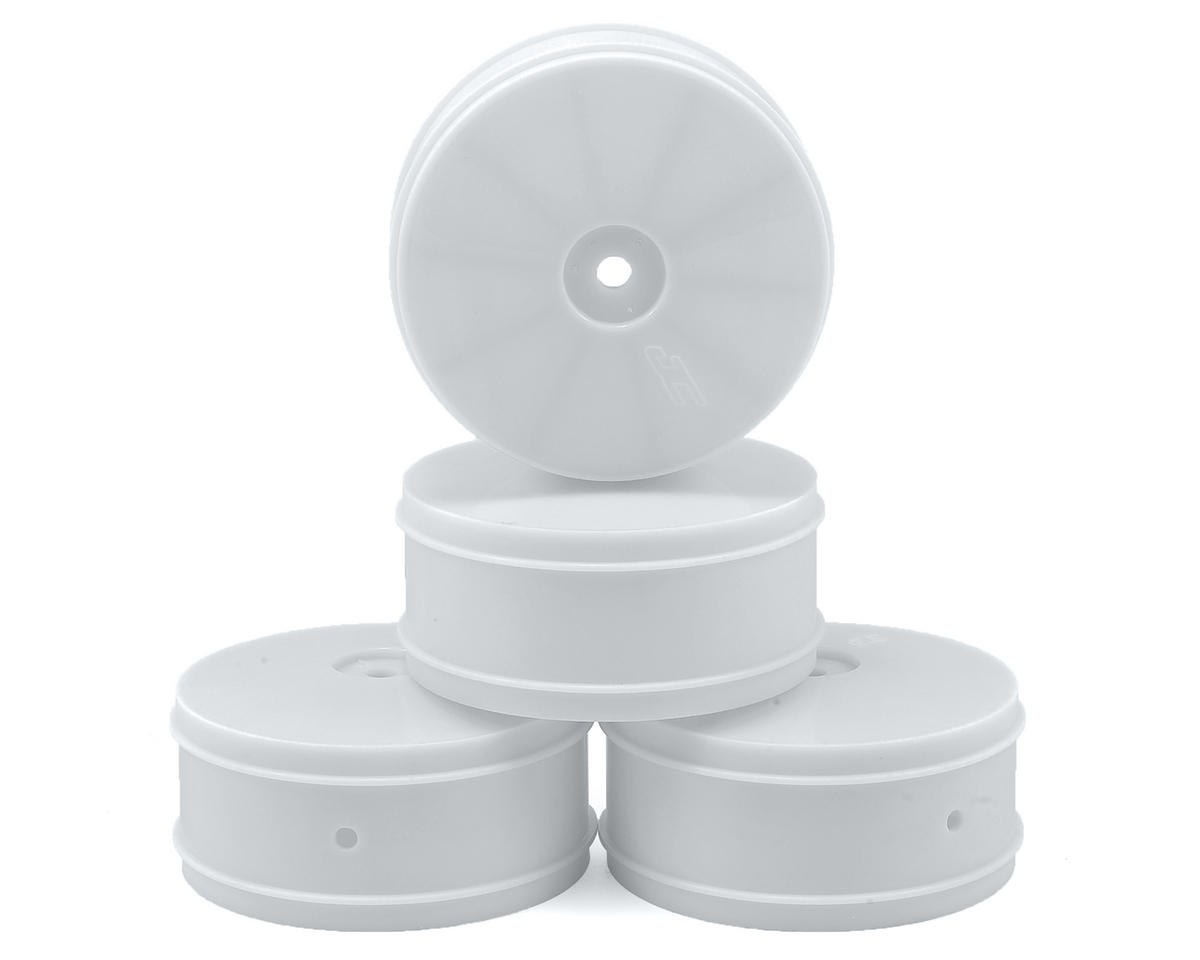 JConcepts 9.5mm Hex Bullet 60mm 4WD Front Buggy Wheels (4) (B44.2) (White)