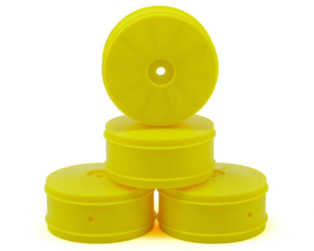 9.5mm Hex Bullet 60mm 4WD Front Buggy Wheels (4) (B44.2) (Yellow) by JConcepts