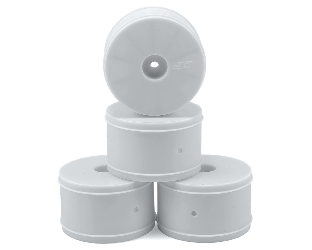 12mm Hex Bullet 60mm Rear Wheels (4) (22/22-4/B-MAX4) (White) by JConcepts