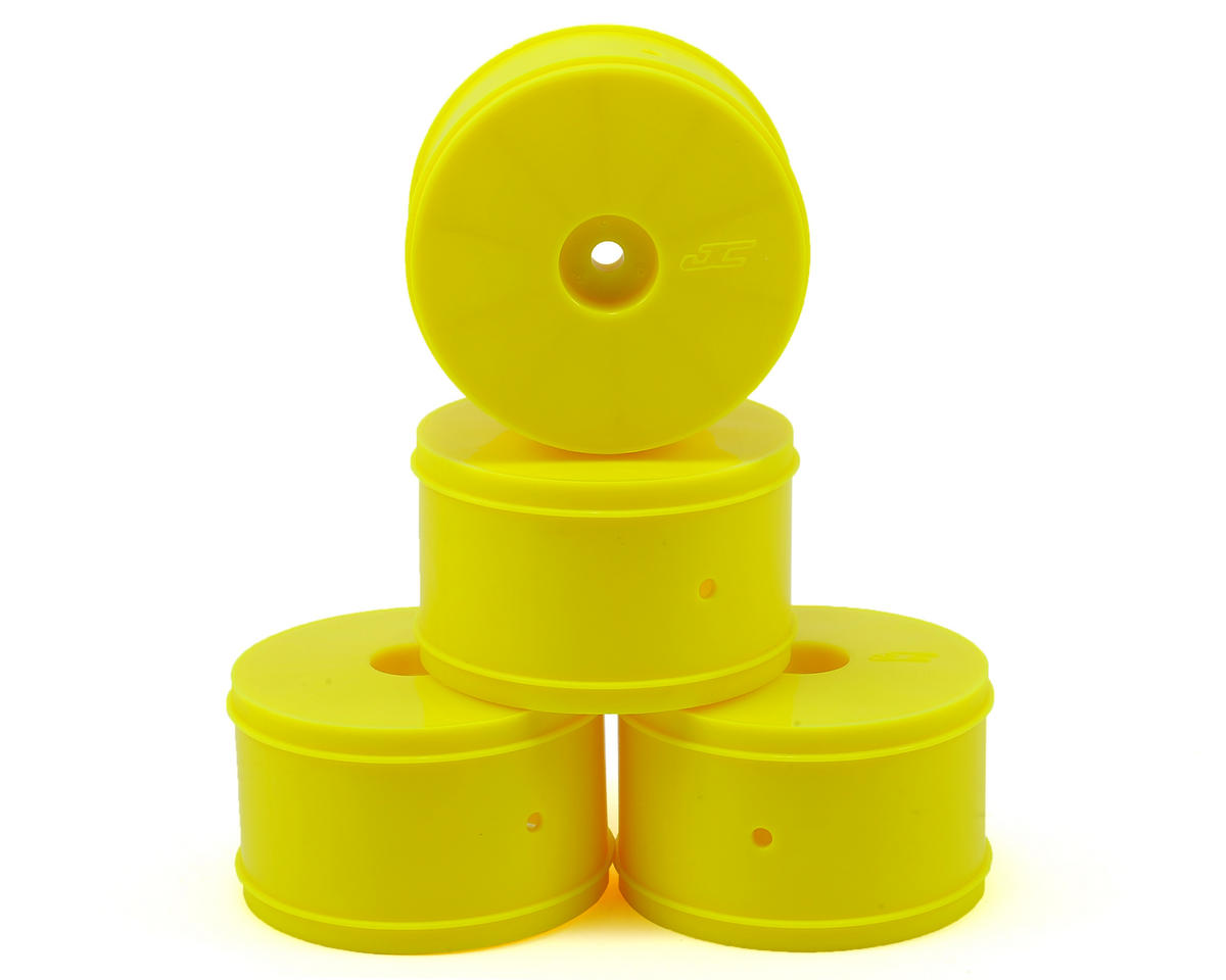JConcepts 12mm Hex Bullet 60mm Rear Wheels (4) (22/22-4/B-MAX4) (Yellow)