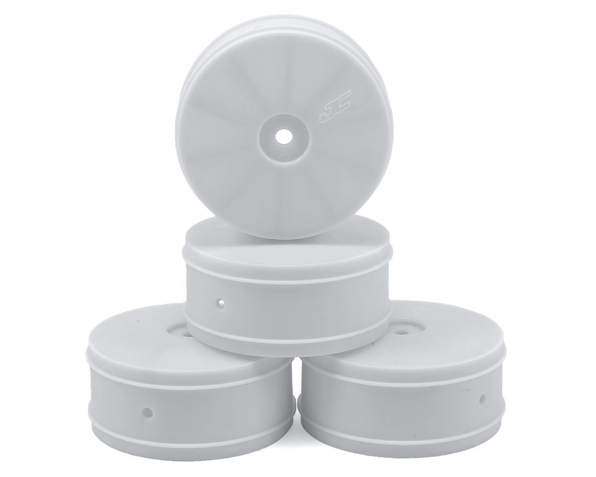 JConcepts 12mm Hex Bullet 60mm 4WD Front Buggy Wheels (4) (22-4) (White)