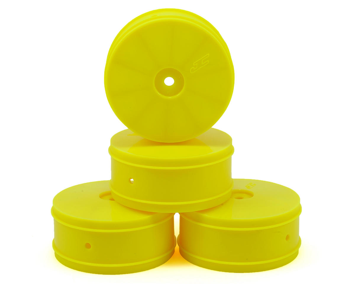 JConcepts 12mm Hex Bullet 60mm 4WD Front Buggy Wheels (4) (22-4) (Yellow)
