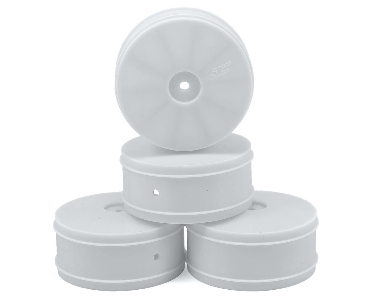 JConcepts Bullet 60mm 4WD Front Buggy Wheels (4) (ZX6/XB4/B-MAX4) (White)
