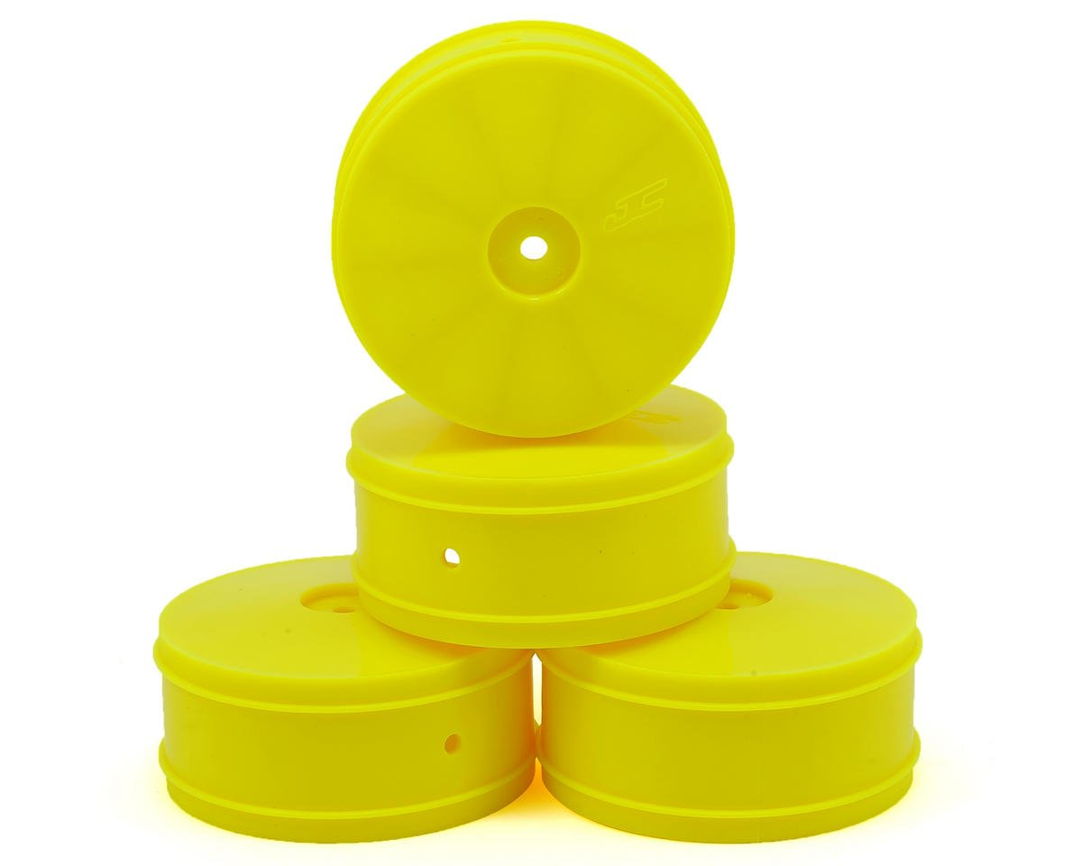 JConcepts Bullet 60mm 4WD Front Buggy Wheels (4) (ZX6/XB4/B-MAX4) (Yellow)