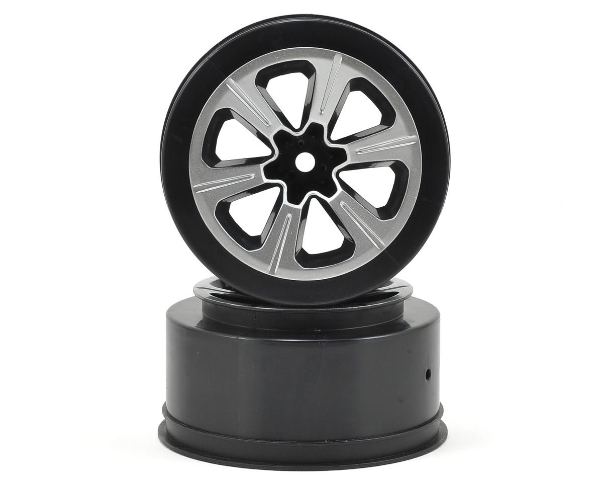 12mm Hex Hustle Short Course Wheels (Black) (2) (Slash Front) by JConcepts