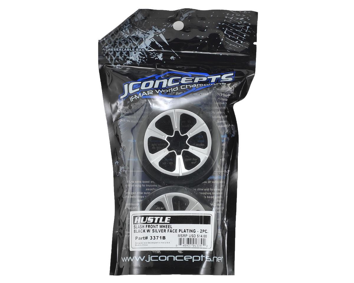 JConcepts 12mm Hex Hustle Short Course Wheels (Black) (2) (Slash Front)