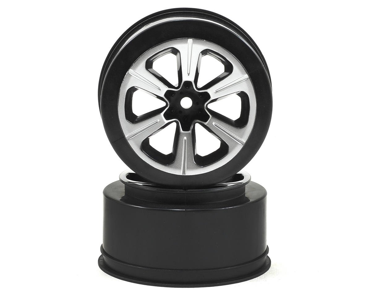 12mm Hex Hustle Short Course Wheels (Black) (2) (Slash) by JConcepts