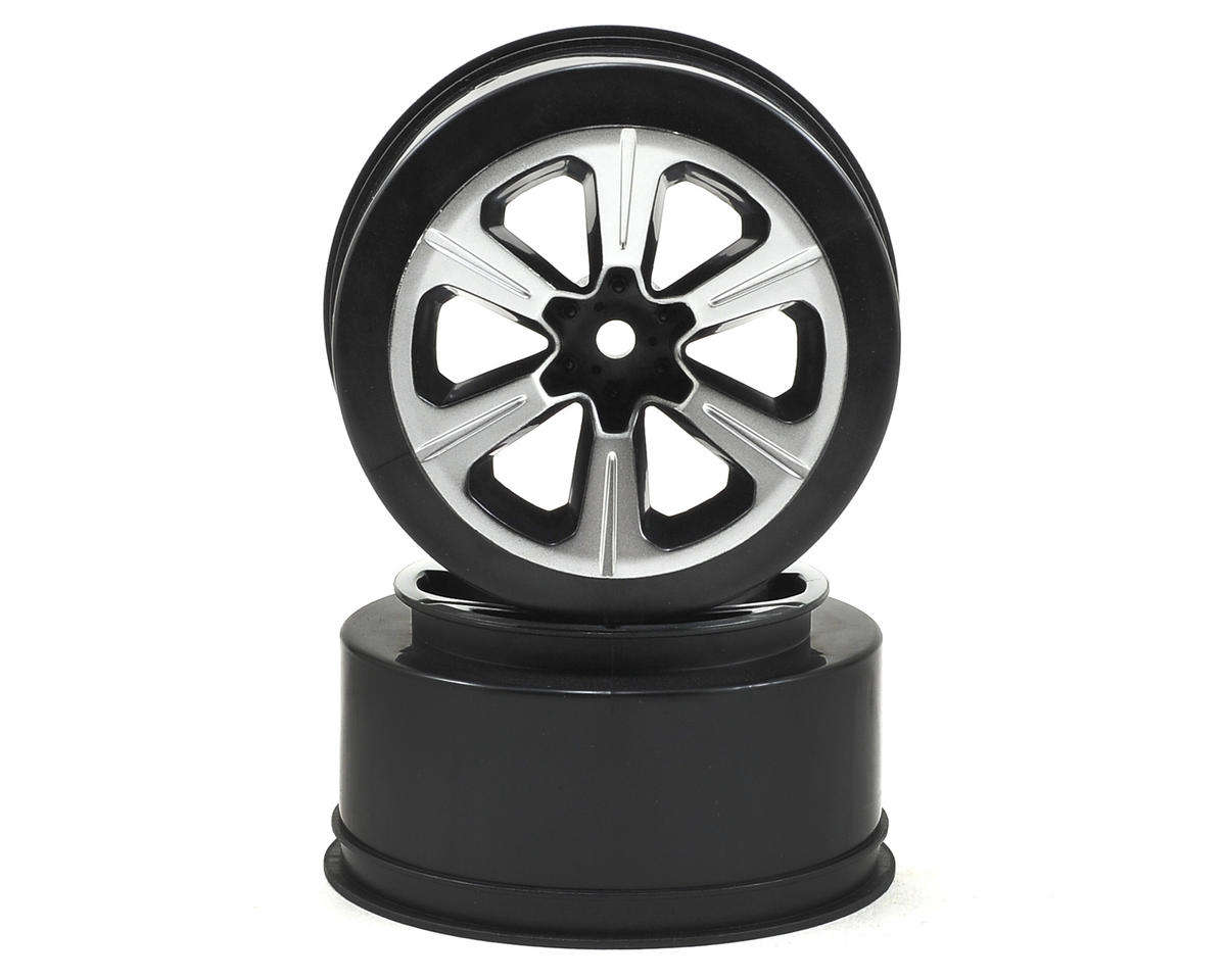 JConcepts 12mm Hex Hustle Short Course Wheels (Black) (2) (Slash)