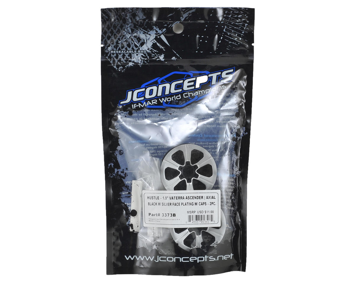 "JConcepts Hustle 1.9"" Rock Crawler Wheels (2) (Chrome)"