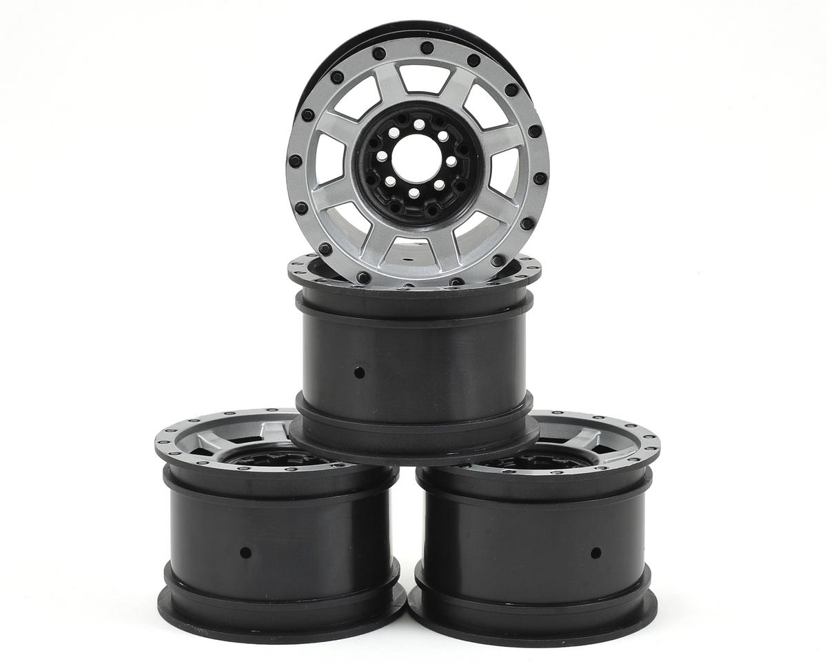 Vengeance 2.2 Rock Crawler Wheels (4) (Black/Chrome) by JConcepts