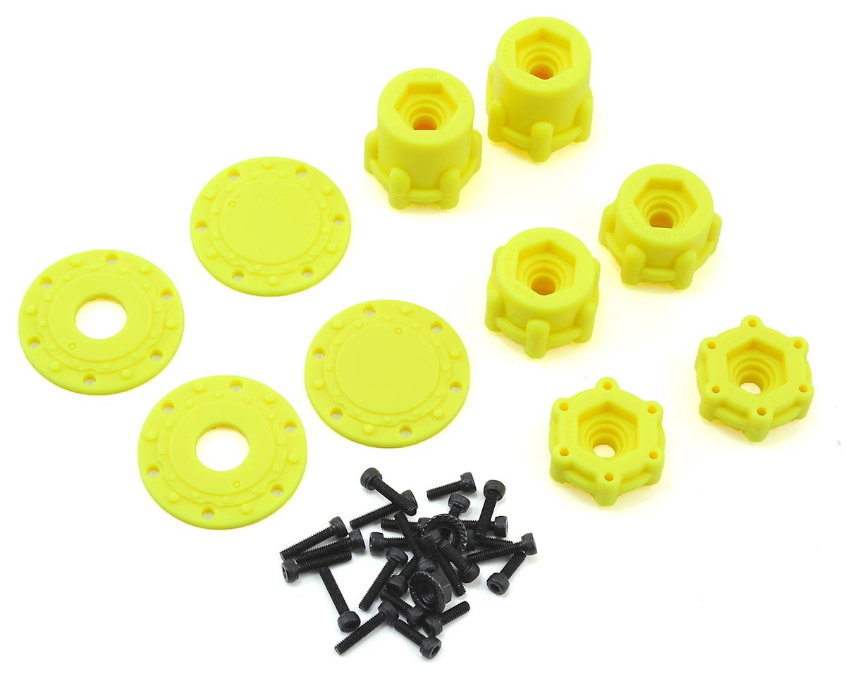 "JConcepts Tribute 2.6 x 3.6"" Monster Truck Wheel (Yellow) (2)"