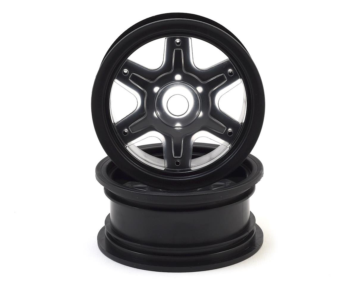"JConcepts 12mm Hex Dragon 2.6"" Mega Truck Wheel w/Offset Adapters (Black) (2)"