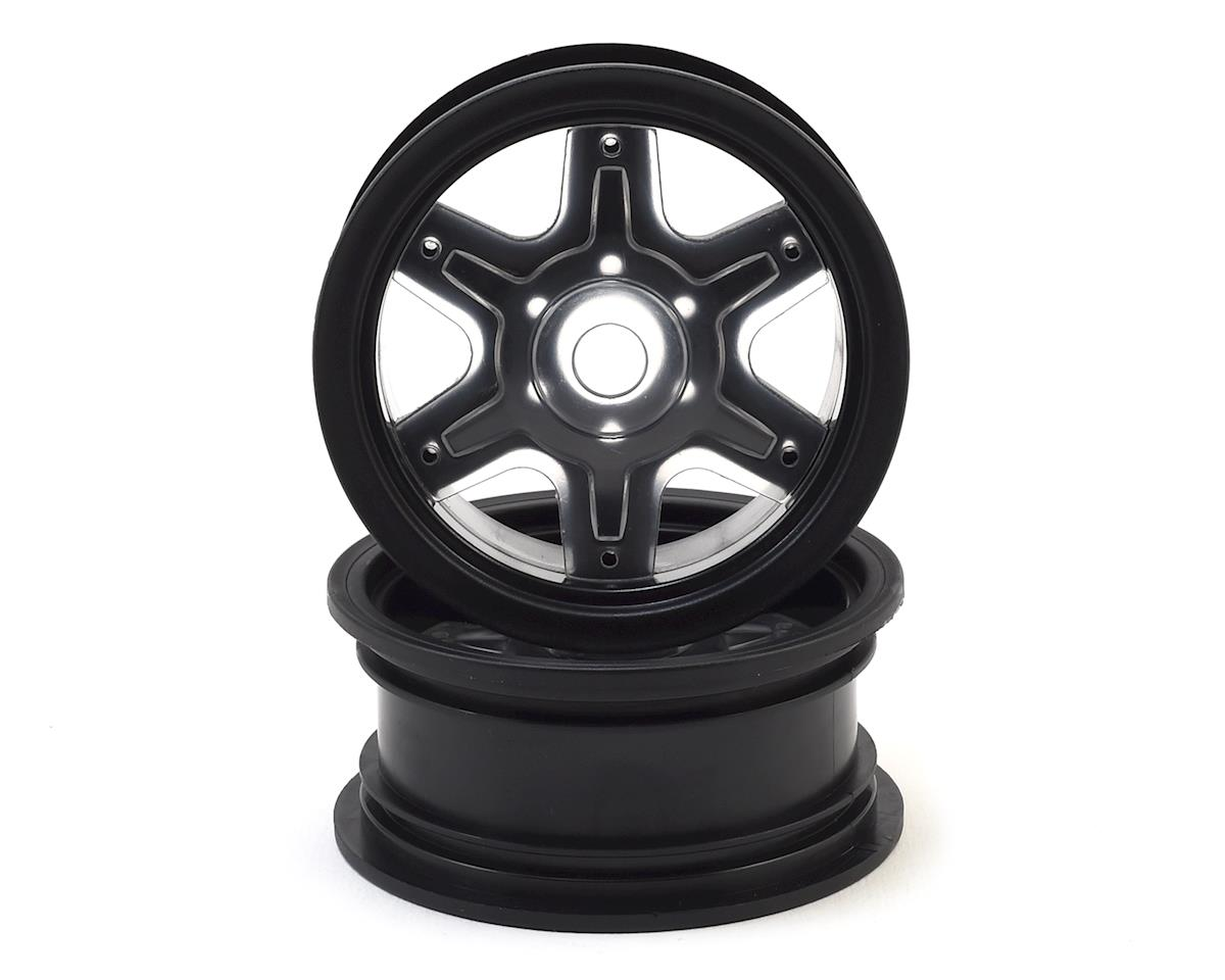"JConcepts 12mm Hex Dragon 2.6"" Mega Truck Wheel w/Offset Adapters (Black) (2) 