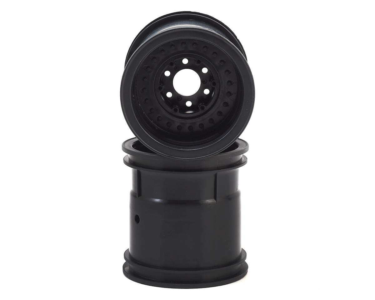 "JConcepts 12mm Hex Midwest 2.2"" Monster Truck Wheel (2) (Black) (Tamiya Clod Buster)"