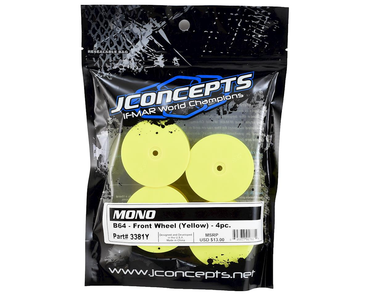 JConcepts 12mm Hex Mono Front Wheel (Yellow) (4) (B64)