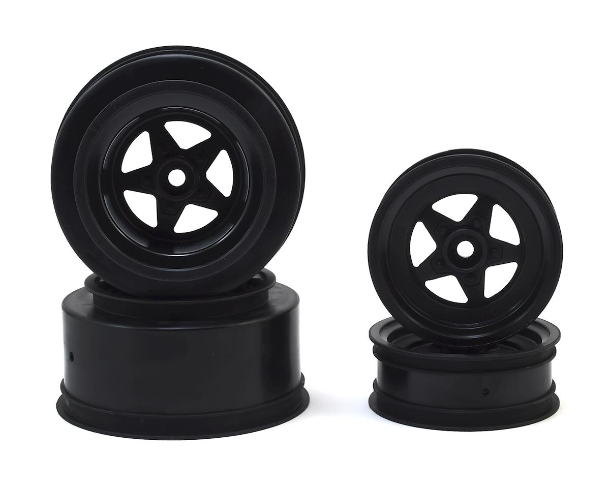 JConcepts Startec Street Eliminator Drag Racing Wheels (Black) (Traxxas Rustler)